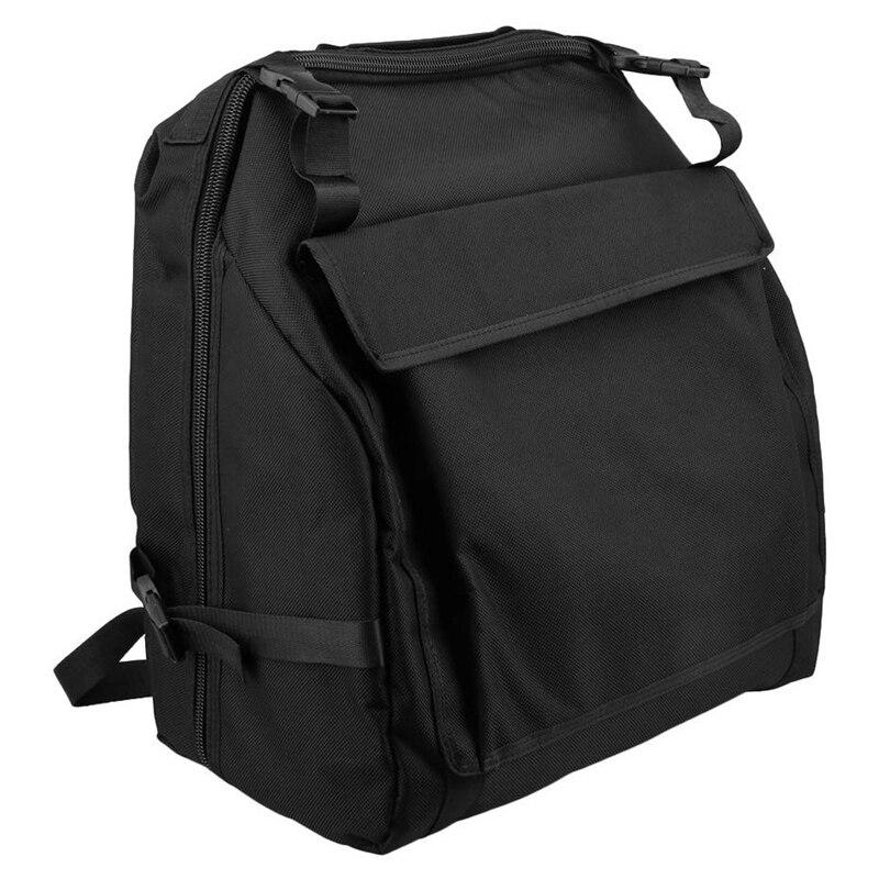 Black Oxford Cloth Accordion Case Storage Bag For 48 Bass Accordion
