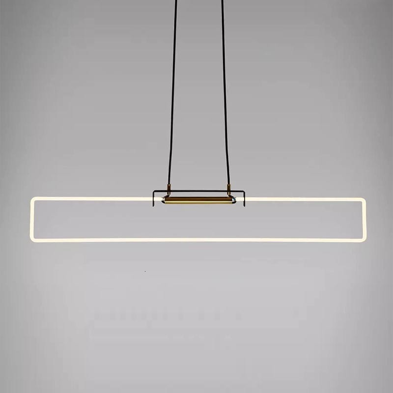Modern Line Lamp Northern Europe Originality Personality Bar Counter A Living Room Toggery Designer Model Between A Chandelier