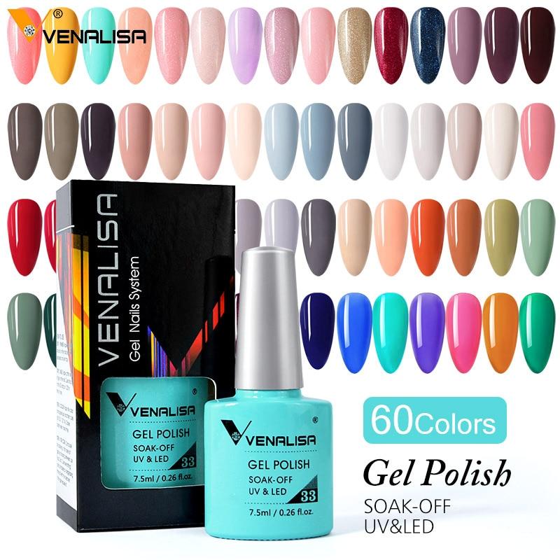 Venalisa 7.5ml Gel Nail Polish Canni Nail Supply Wholesale Soak Off UV LED Gel Lacquer Nail Art Glitter Polish Long Lasting Gel 2