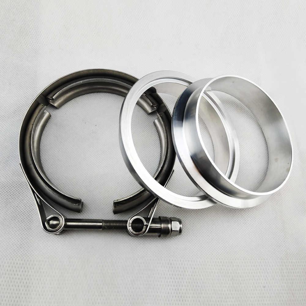"""2,5-4 .. 0 """"Abrazadera Vband de acero inoxidable bridas de aluminio macho hembra para Auto escape V abrazadera nylon tuerca alta antioxidante"""