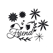 Naifumodo Letter Friend Metal Cutting Dies Flower Scrapbooking Craft Embossing Stencil Die Cut Card Making New 2019