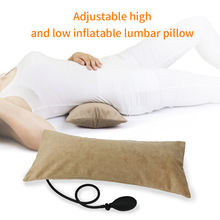1Pc Air Inflatable Pillow Travel Lumbar for Sleeping Back Pain Lower Support Cushion