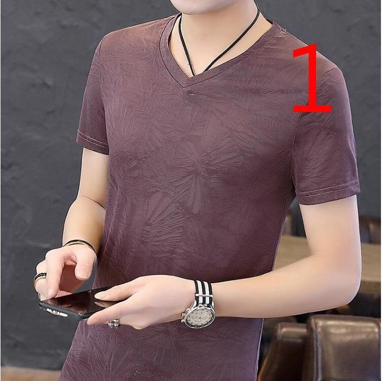 Men's Lapel Short-sleeved T-shirt Men's Street Brand 2019 New Trend Loose Korean Version Of The Cotton Port Wind Slim