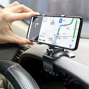 Image 5 - Car Phone Holder Universal Cell Phone Gps Car Dashboard Mount Phone Holder Stand Clip 360 Degree Rotatable Support
