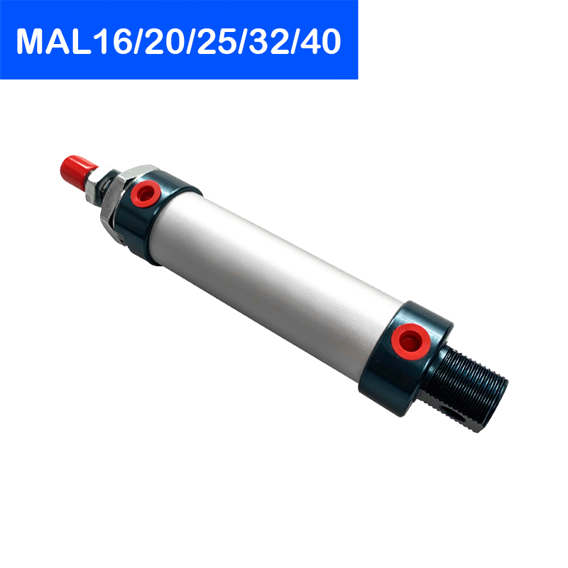 MAL Series Mini Pneumatic Cylinder 16/20/25/32/40mm Bore 25-500mm Stroke Double Acting Aluminum Alloy Air Cylinder Free Shipping