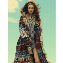 Canwedance Fashion Long Sweaters Knit Women New Hooded Thick Autumn Cardigans Faux Fur Long Cardigan Indie Folk Sweaters