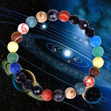 New Planet Bracelet for Men Women Facted Natural Stone Beaded Chakra Yoga Bracelet Universe Solar System Bracelets Charm Jewelry