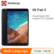 Original Xiaomi Mi Pad 4 32GB/64GB tablettes 4 Snapdragon 660 AIE CPU tablette 8.0 ''16:10 écran 13MP Bluetooth 5.0 6000mAh batterie(Hong Kong,China)