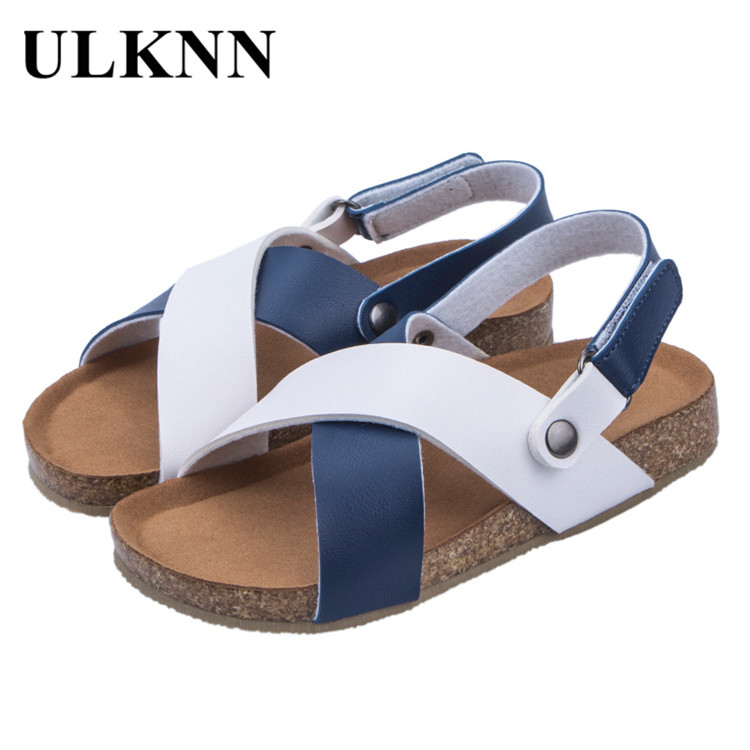 ULKNN CHILDREN'S Shoes Cosy Girl Summer Sandals For Boys Students School Sandals Wholesale Foreign Trade Cross Kid's Shoes