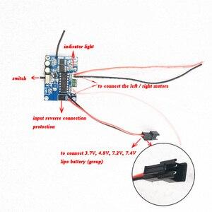 Image 5 - 1 セット 2.4 グラム差動 4ch 受信機 + リモコンラジオシステム速度 rc タンクボートスピードボートアクセサリー