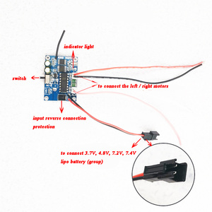 Image 5 - 1Set 2.4G Differential 4ch Receiver+Remote Control Radio Systems Speed  for RC Tank Boat Speedboat Accessories