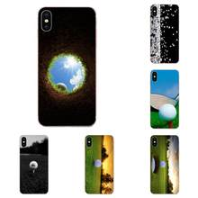 Many Golf Ball Pattern Sport Print For Sony Xperia Z Z1 Z2 Z3 Z4 Z5 compact Mini M2 M4 M5 T3 E3 E5 XA XA1 XZ Premium(China)