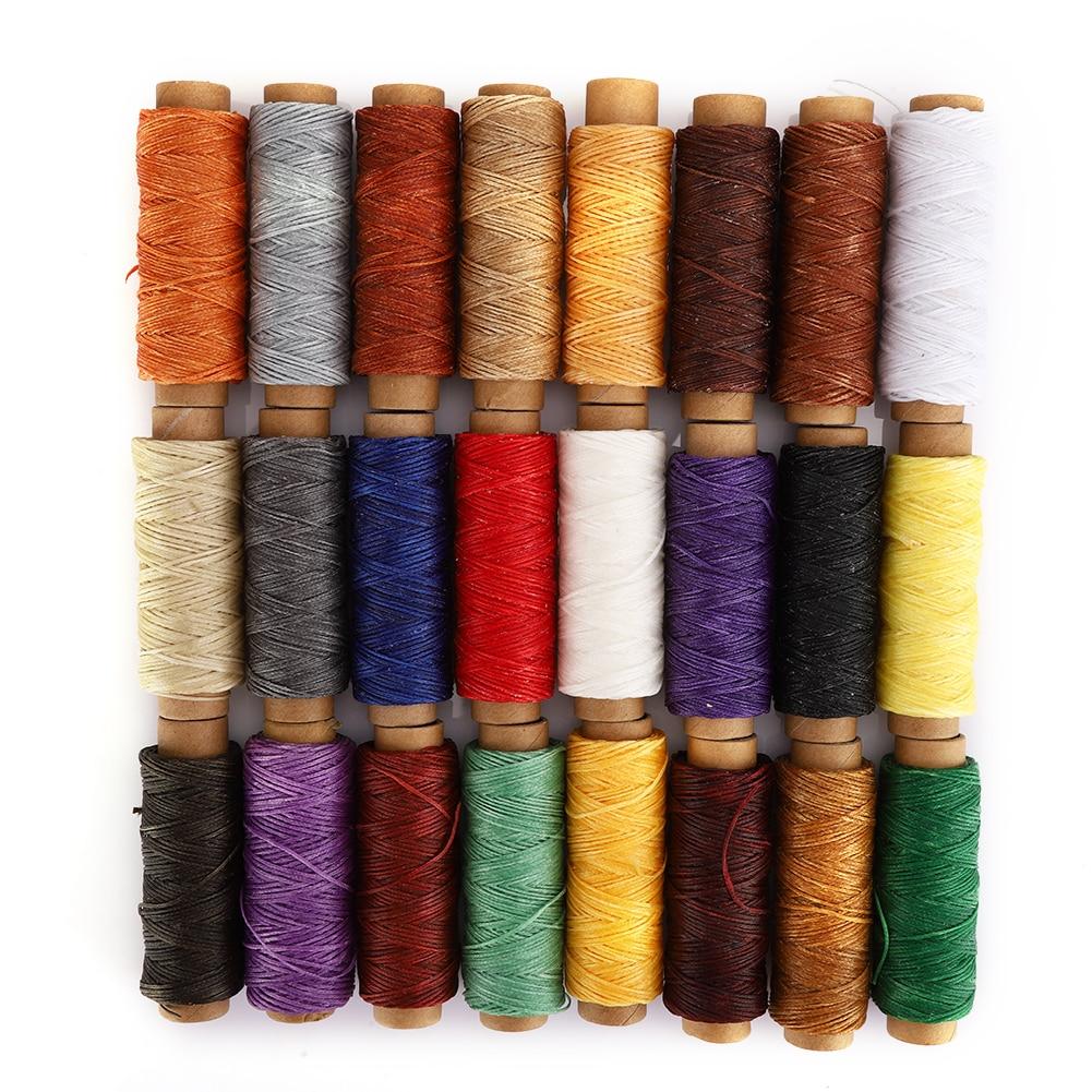 24 цвета 150D вощеная нить ручной работы плоская ручная швейная строчка шнур DIY Инструменты для кожаного ремесла DIY швейная линия