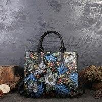 Women's stiletto bag vintage leather women's bag new fashion tote bag women's single shoulder handbag