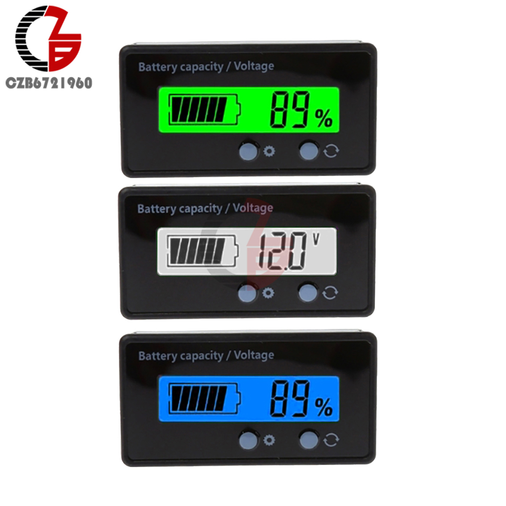 7-100V Lead Acid Lithium Battery Capacity Indicator 9V 12V 24V 48V Car Motorcycle Analog Digital Voltmeter Voltage Tester Meter