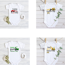 Fathers Day mothers day gift Daddy's Truck baby bodysuit Toddler construction Tr