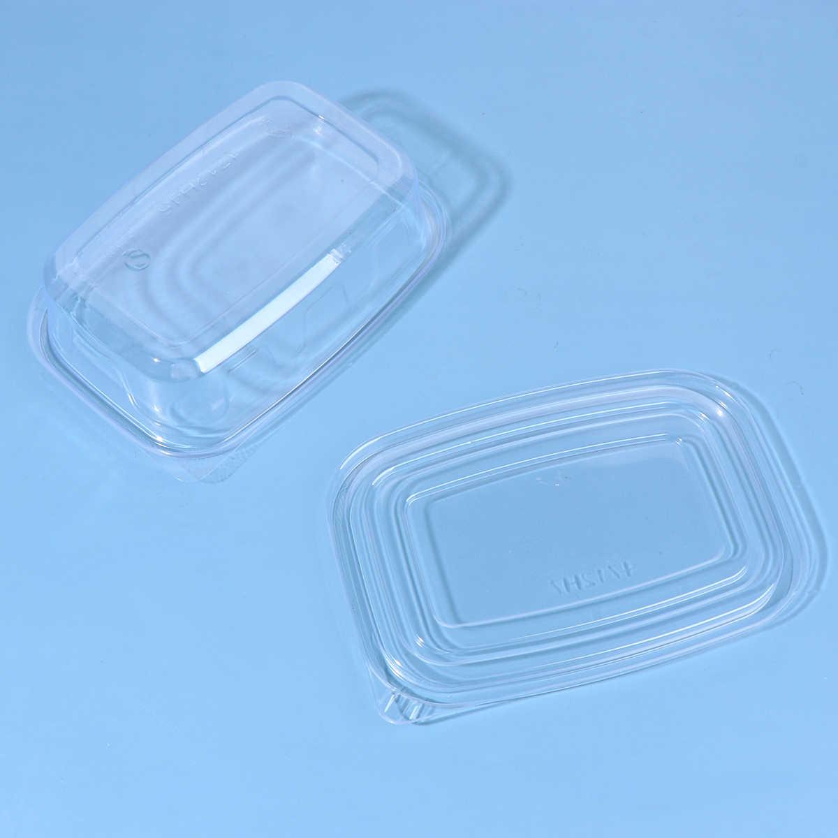 10/20/30/40pcs חד פעמי פלסטיק קופסות עם כיסוי נייד פירות מקרה אחד-off Takeout מזון מכולות עבור בית חנות