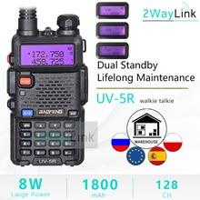Atualizar 8w baofeng UV 5R 8w walkie talkie 10 km uv5r walkie talkie caça rádio presunto 10 km baofeng UV 9R UV 82 UV 8HX UV XR uv 5r