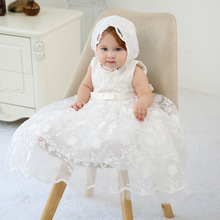 Baby Girl Party Dresses for girl baby birthday dress Princess wedding Dress Lace Christening Gown Baby Clothing White Baptism недорого