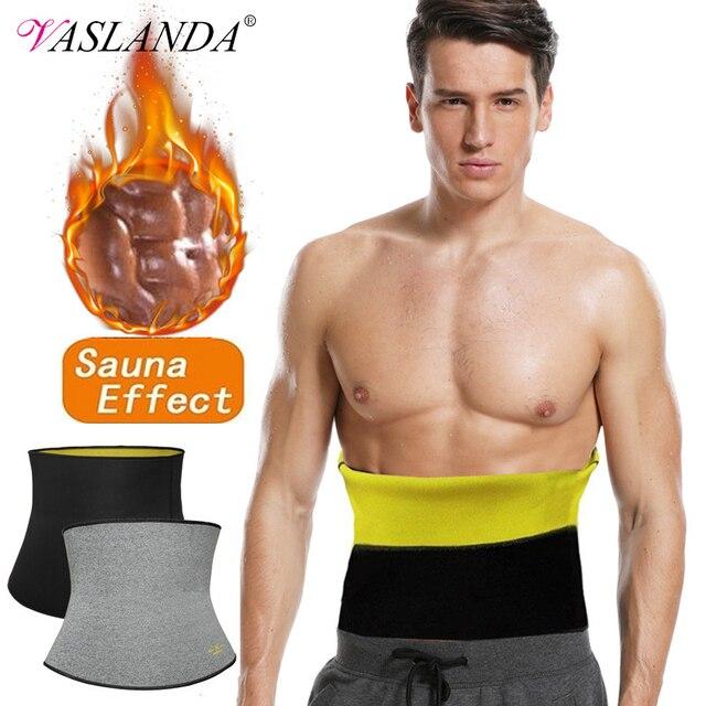 Men Waist Trimmer Belt Neoprene Waist Trainer Weight Loss Body Shaper Sauna Sweat Faja Fitness Slimming Belts Tummy Control Band