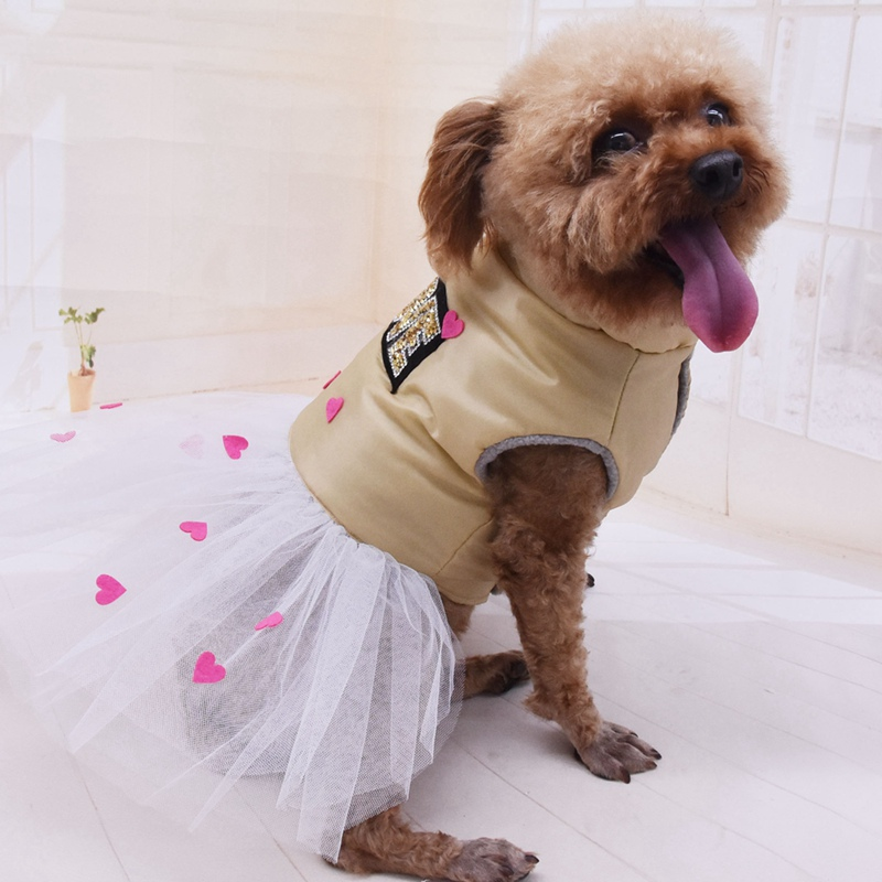 Warm <font><b>Dog</b></font> <font><b>dress</b></font> Autumn <font><b>Winter</b></font> Funny Party <font><b>Dress</b></font> Up Warm Clothes <font><b>Dog</b></font> Girls Fancy <font><b>Dress</b></font> Love Hearts Pet <font><b>Dog</b></font> <font><b>Dress</b></font> image