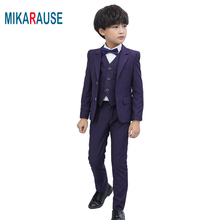 Mikarause New Kids Boys Suits for wedding Tuxedo Blazers Boy