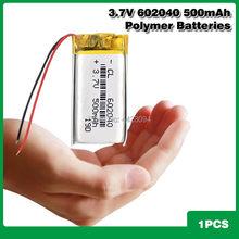 Bateria recarregável do li-íon lipo da substituição da bateria 602040 v 3.7 mah do polímero do lítio 500 para o orador de bluetooth