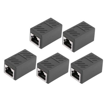 5Pcs RJ45 Inline Coupler Extender Female to Female Cat7 Cat6 Cat5e Ethernet LAN Network Cable Wire Adapter Converter Connector hdmi extender transmitter tx rx adapter 30m hdmi network extender rj45 cat5e cat6 ethernet lan without hdcp