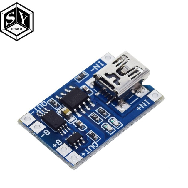 1PCS Great IT 5V 1A Micro USB 18650 type-c Lithium Battery Charging Board Charger Module+Protection Dual Functions TP4056 18650 6