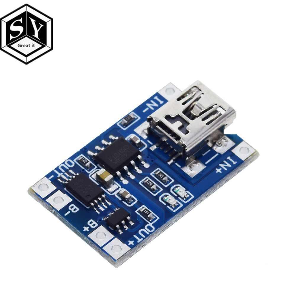 1 Cái Đại Nó 5V 1A Micro USB 18650 Loại C Pin Lithium Sạc Ban Sạc Mô Đun + bảo Vệ Kép Chức Năng TP4056 18650