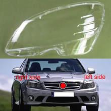 Przednia klosz lampy powłoki reflektory pokrywa reflektor Shell dla 2007-2010 Benz C klasa W204 C180 C200 C220 C250 C280 C300 tanie tanio gouhuo CN (pochodzenie)