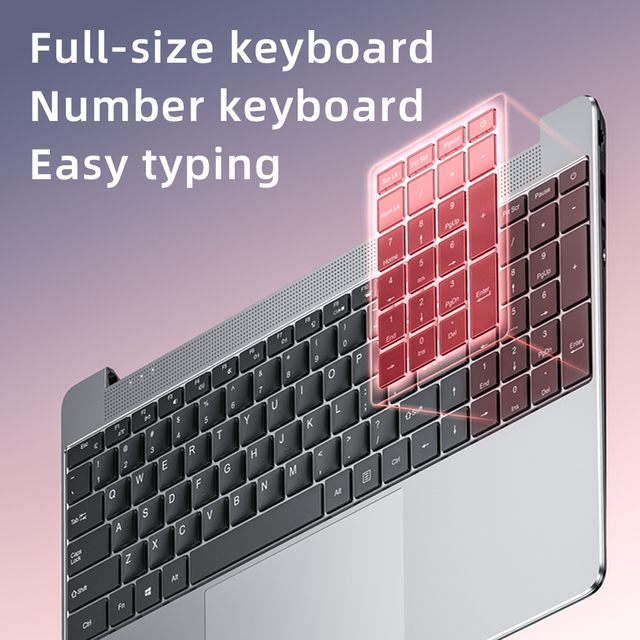Dere R9 PRO 15.6 inch Laptop 12GB RAM 256GB ROM SSD Notebook Windows 10 pro Laptop Intel Celeron N5100 Computer PC Portable 4