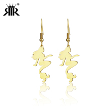 RIR Exquisite Mermaid Earrings Fairy Tale Shells Starfish Reef Nautical Little Girls Gift