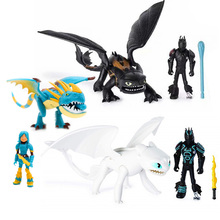 New Dragon Toothless Action figure Light Fury Toys For Childrens Birthday Gifts