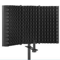 Tüketici Elektroniği'ten Mikrofon Aksesuarları'de Katlanmış mikrofon ses emici vokal kayıt paneli anti gürültü 3 kat tasarım yüksek yoğunluklu köpük paneli