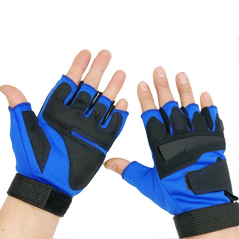 Cycling Gloves Thick Silicone Shock Absorber Spring And Summer Sports Fitness Half Finger Gloves