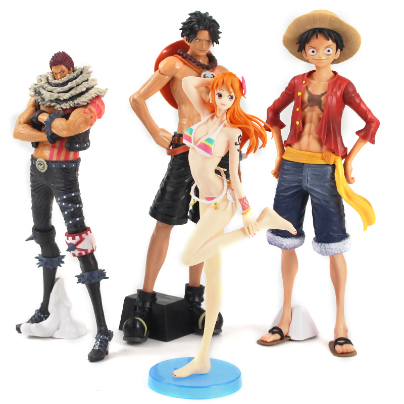 25-29cm <font><b>One</b></font> <font><b>Piece</b></font> Charlotte <font><b>Katakuri</b></font> Nami Monkey D Luffy Portgas D Ace PVC <font><b>Figure</b></font> Collectible Model Toys image