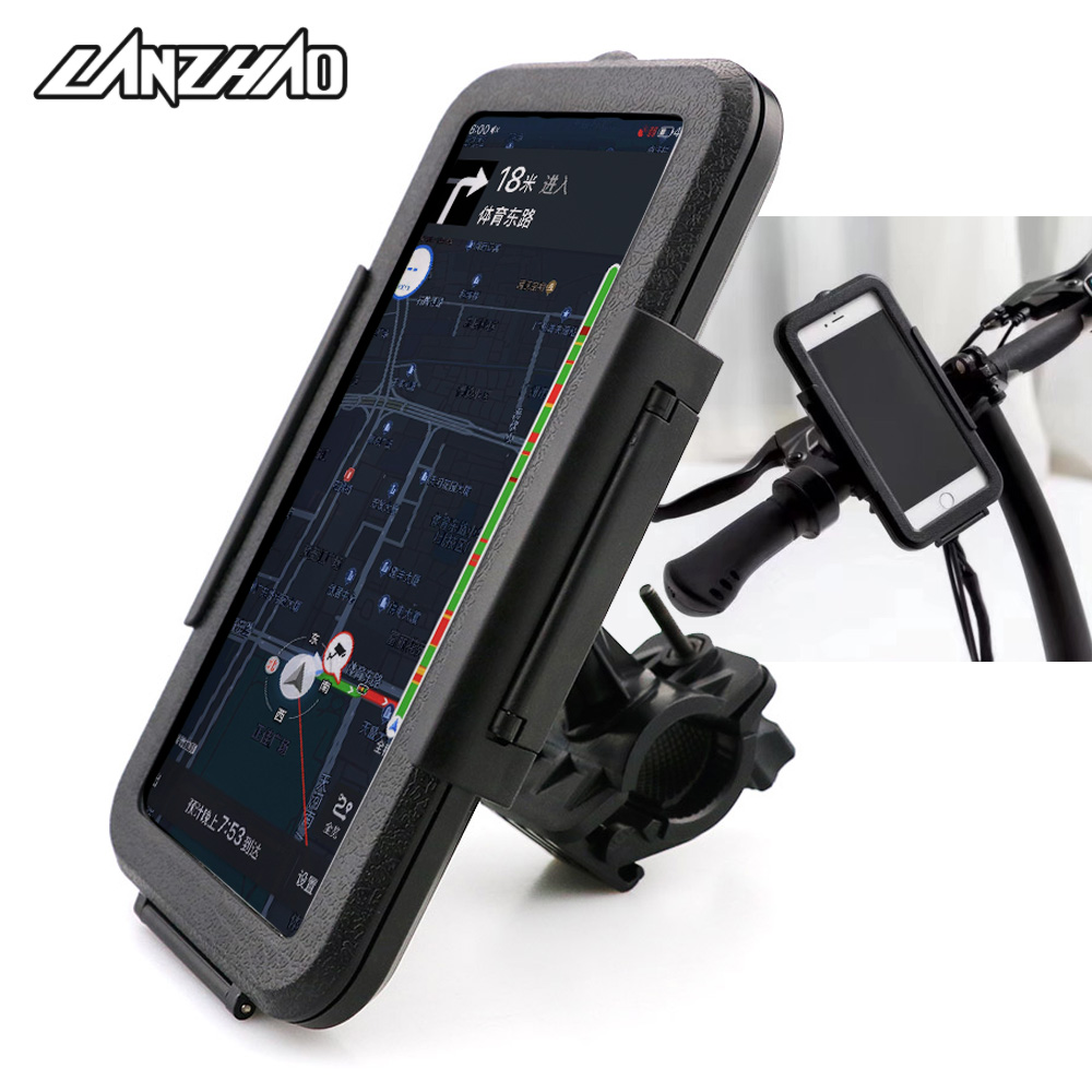 Outdoor Sport Motorcycle Cycling Waterproof Phone Case GPS Holder Stand 22-28mm Mount Bracket for Honda Ducati Aprilia Triumph(China)
