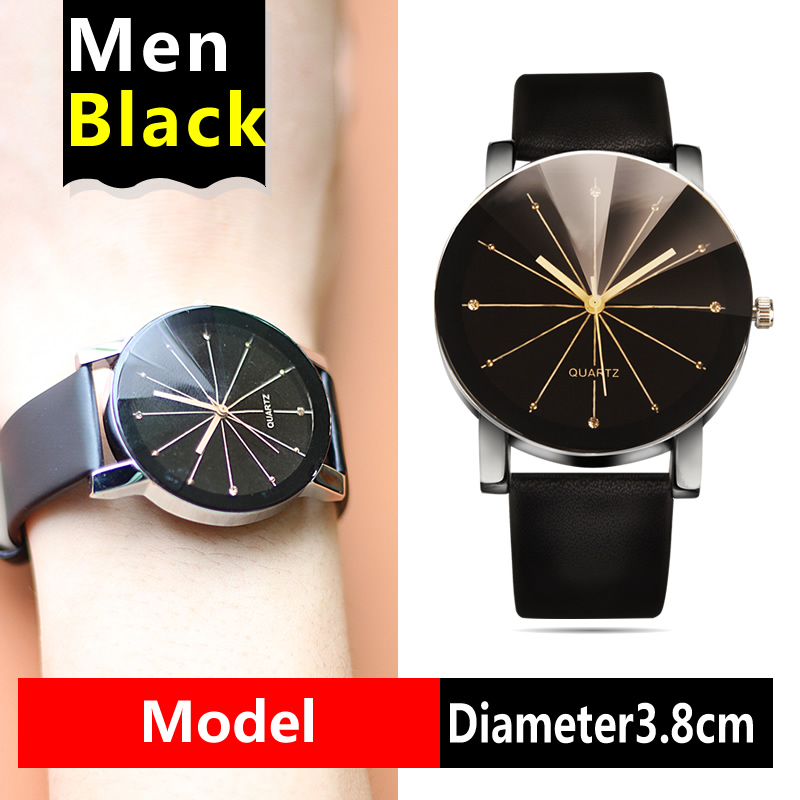 High Quality Quartz Watches Arrival Men Women's Dial Clock Leather Bracelet WristWatch Geometry Sports Watch Lover Wristwatches