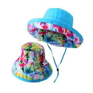 Рыбацкая женская шляпа с широкими полями и принтом Harajuku, солнцезащитные шляпы для защиты от УФ-лучей, складная шапка для рыбалки