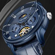 TEVISE Relogio Skeleton Tourbillon Automatic Mechanical Watches Men Leather Self Winding Men Wrist Watches Reloj Hombre Gift Box ik coloring original men s skeleton dial auto mechanical orange pu leather strap watches box gift free ship