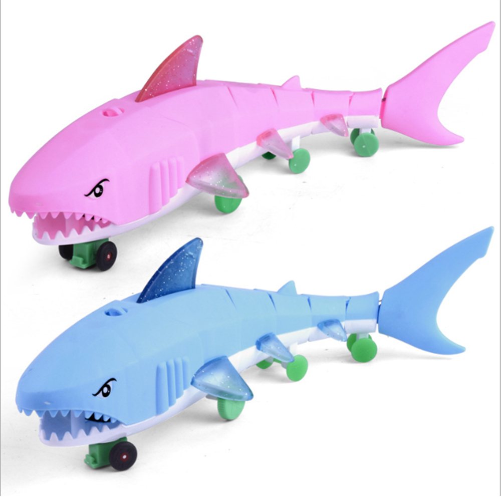 Children's Toys Electric Leash Shark Light Music Parent-child Interaction Exchange Baby Comfort Toy Birthday Gift 27454