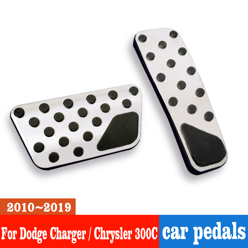 NUIOsdz Car Accelerator Pedal Brake Pedal Cover pad case Non-Slip car Accessories,for Dodge Charger//Chrysler 300C 2010-2019