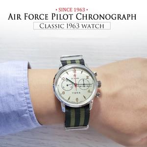 Image 5 - RED STAR 42mm Mens Chronograph Watches ST1901 Movement with Gooseneck Device Clock 21 Zuan Men Mechanical Hand Wind Wrist Watch