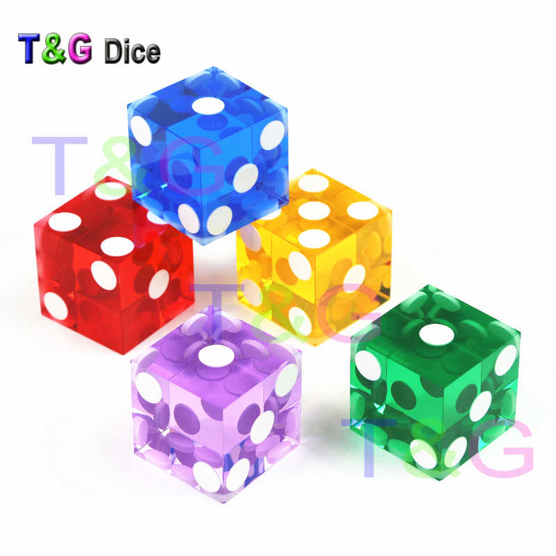 10 X Grand Six Faces Translucide Dé 19mm Casino Craps