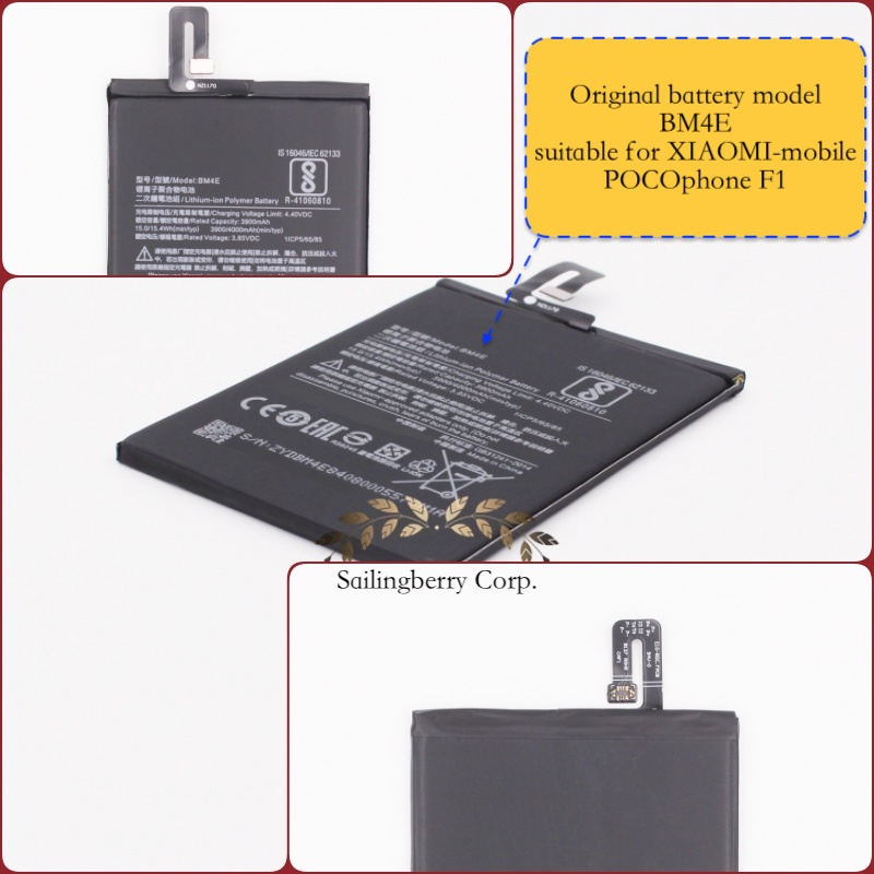 Original battery suitable for XIAOMI-mobile POCOphone F1 with battery model BM4E(It is safe to check before placing order image