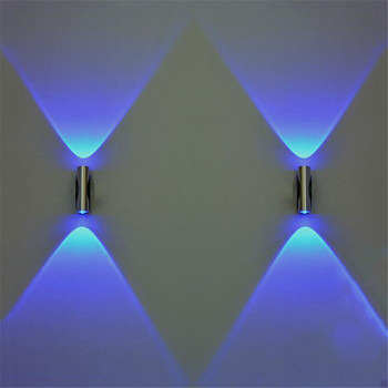 #20 Double-headed LED Wall Lamp Home Sconce Bar Porch Wall Decor Ceiling Light Blue Home improvement Home accessories