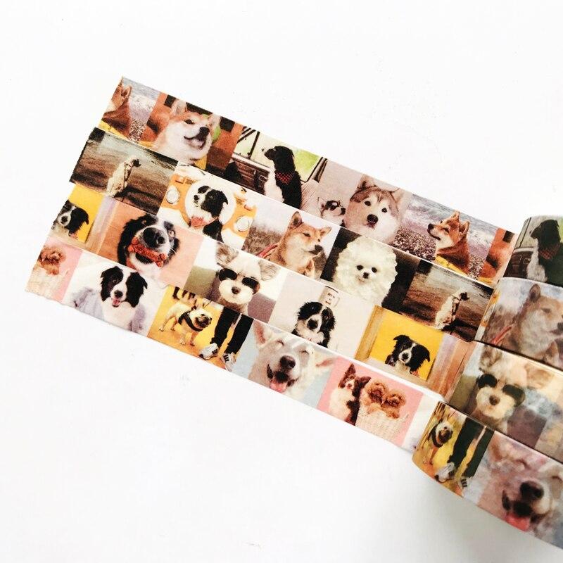 1.5cm *5 M Cute World Famous Puppy Dog Washi Tape Paper Masking Tape Decorative Stick Label Kids Gift