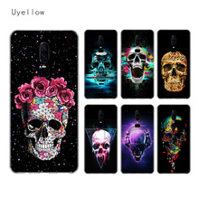 Uyellow Neon Skull Silicone Soft Case For One Plus 7 Pro 6 6T 5 5T Fashion Fundas Printed Cover Luxury Phone Coque Bone Shell