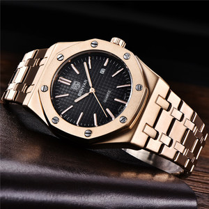 Image 2 - BENYAR Men Watch Top Brand Luxury Rose Gold Waterproof Military Male Clock Sport Stainless Steel Calendar Man Wristwatch 5156